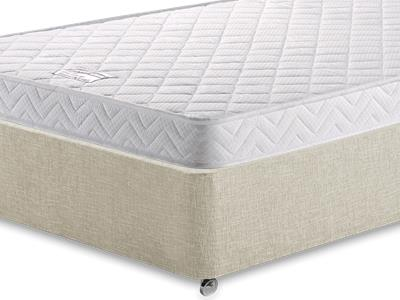 Birlea Comfort Care 4 Small Double Mattress with Executive Barley Small Double 0 Drawer Divan Set