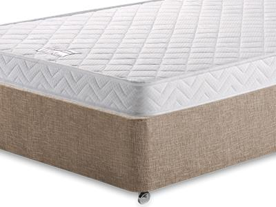 Birlea Comfort Care 4 Small Double Mattress with Executive Biscuit Small Double No Drawers Divan Set