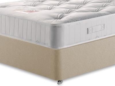 British Bed Company Pocket 1000 4 6 Double with Executive Sandstone Double 0 Drawer Divan Set
