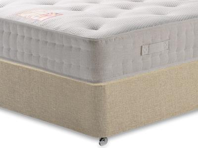British Bed Company Cotton Pocket 1200 Chenille 3 Single with Classic Mink Single Slide Store Divan Set