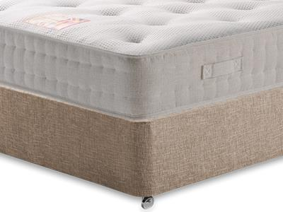 British Bed Company Cotton Pocket 1200 Chenille 4 Small Double with Executive Biscuit Small Double No Drawers Divan Set