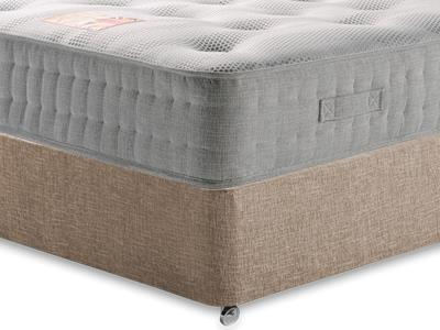 British Bed Company Cotton Pocket 1400 Chenille 4 Small Double with Executive Biscuit Small Double No Drawers Divan Set