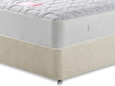 British Bed Company The Love Bed Mattress 4 6 Double with Executive Barley Double 0 Drawer Divan Set