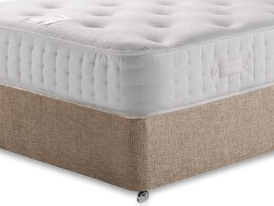 Relyon Pocket Memory Platinum 1500 4 6 Double Mattress with Executive Biscuit Double No Drawers Divan Set