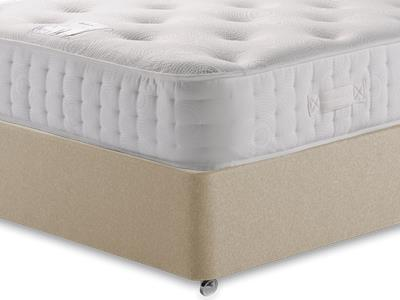 Relyon Pocket Memory Platinum 1500 4 6 Double Mattress with Executive Sandstone Double 4 Drawer Divan Set