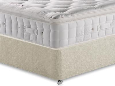 Hypnos Premier Luxury Pillow Top 3 Single Mattress with Executive Barley Single 0 Drawer Divan Set