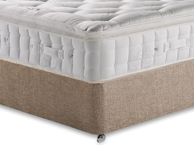 Hypnos Premier Luxury Pillow Top 4 6 Double Mattress with Executive Biscuit Double No Drawers Divan Set