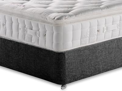 Hypnos Premier Luxury Pillow Top 5 King Size Mattress with Executive Black King Size No Drawers Divan Set