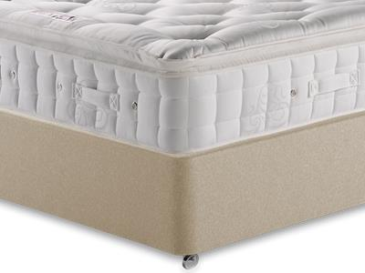 Hypnos Premier Luxury Pillow Top 4 6 Double Mattress with Executive Sandstone Double 4 Drawer Divan Set