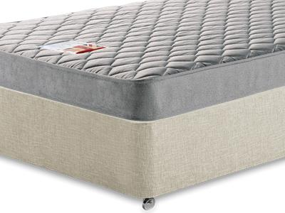 British Bed Company Contract Leisure One 2 6 Small Single Mattress with Executive Barley Small Single 0 Drawer Divan Set