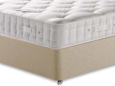 Hypnos Premier Bedstead Mattress 4 Small Double Mattress with Executive Sandstone Small Double 4 Drawer Divan Set