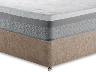 Sealy Pocket Serenity 1400 4 6 Double Mattress with Executive Biscuit Double No Drawers Divan Set