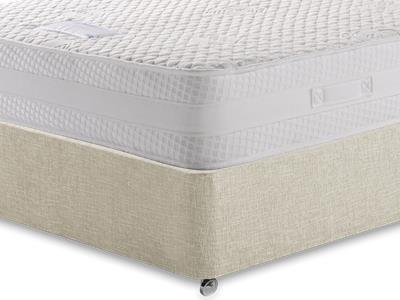 Healthbeds Ltd Inspiration 4 6 Double Mattress with Executive Barley Double 0 Drawer Divan Set
