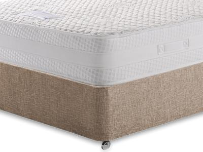 Healthbeds Ltd Inspiration 4 6 Double Mattress with Executive Biscuit Double No Drawers Divan Set