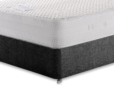 Healthbeds Ltd Inspiration 5 King Size Mattress with Executive Black King Size No Drawers Divan Set