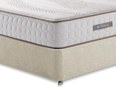 Sealy Pearl Contour 4 6 Double Mattress with Executive Barley Double 0 Drawer Divan Set