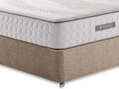 Sealy Pearl Contour 4 6 Double Mattress with Executive Biscuit Double No Drawers Divan Set