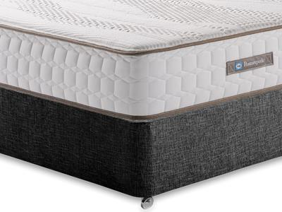 Sealy Pearl Contour 5 King Size Mattress with Executive Black King Size No Drawers Divan Set
