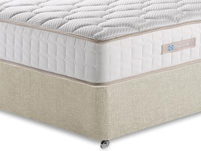 Sealy Casoli 1200 3 Single Mattress with Executive Barley Single 0 Drawer Divan Set