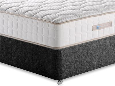 Sealy Casoli 1200 5 King Size Mattress with Executive Black King Size No Drawers Divan Set