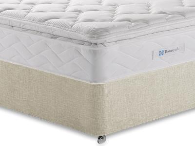 Sealy Millionaire Luxury 5 King Size Mattress with Executive Barley King Size 0 Drawer Divan Set