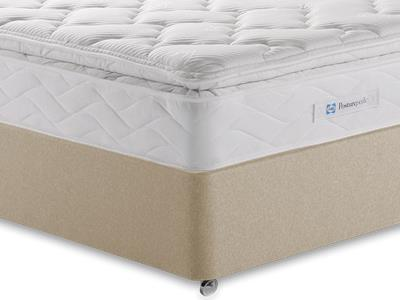 Sealy Millionaire Luxury 4 6 Double Mattress with Executive Sandstone Double 4 Drawer Divan Set