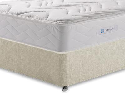 Sealy Millionaire Memory 5 King Size Mattress with Executive Barley King Size 0 Drawer Divan Set