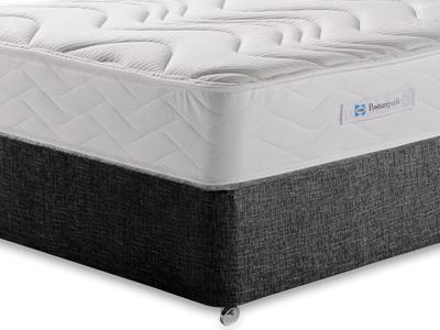 Sealy Millionaire Memory 5 King Size Mattress with Executive Black King Size No Drawers Divan Set