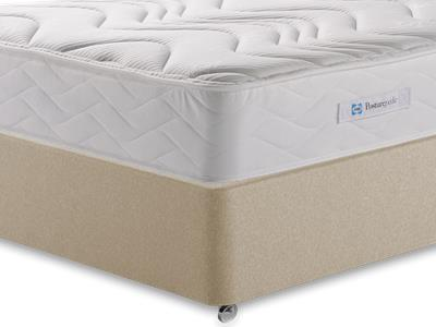 Sealy Millionaire Memory 4 6 Double Mattress with Executive Sandstone Double 4 Drawer Divan Set