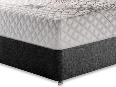 Healthosleep Discovery 5 King Size Mattress with Executive Black King Size No Drawers Divan Set