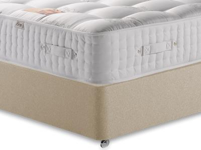 British Bed Company The Grand Duke (Firm) 4 6 Double with Executive Sandstone Double 0 Drawer Divan Set
