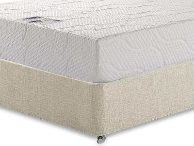 Healthosleep Voyager 3 Single Mattress with Executive Barley Single 0 Drawer Divan Set