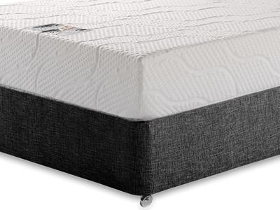 Healthosleep Voyager 5 King Size Mattress with Executive Black King Size No Drawers Divan Set