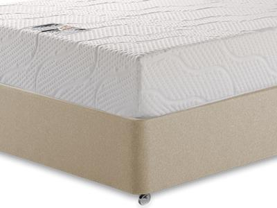 Healthosleep Voyager 4 6 Double Mattress with Executive Sandstone Double 4 Drawer Divan Set