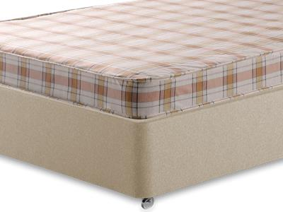 Snuggle Beds Snuggle Eco 4 6 Double Mattress with Executive Sandstone Double 4 Drawer Divan Set