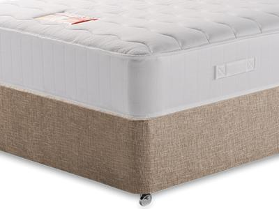 British Bed Company Anniversary Pocket Ortho (Medium-Firm) 4 Small Double with Executive Biscuit Small Double No Drawers Divan Set