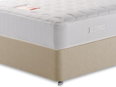 British Bed Company Anniversary Pocket Ortho 4 6 Double with Executive Sandstone Double 0 Drawer Divan Set