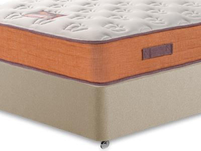 British Bed Company The Nook Mattress 5 King Size with Executive Sandstone King Size 4 Drawer Divan Set