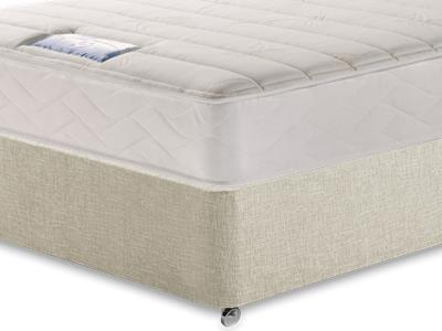 Sealy Millionaire Plush 3 Single Mattress with Executive Barley Single 0 Drawer Divan Set