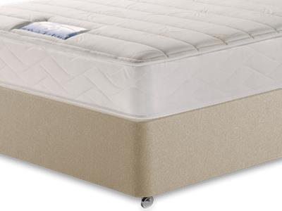 Sealy Millionaire Plush 4 6 Double Mattress with Executive Sandstone Double 4 Drawer Divan Set