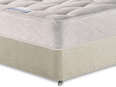Sealy Millionaire Backcare 3 Single Mattress with Executive Barley Single 0 Drawer Divan Set