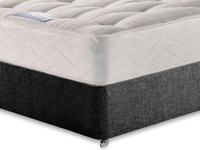 Sealy Millionaire Backcare 5 King Size Mattress with Executive Black King Size No Drawers Divan Set