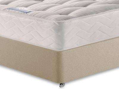 Sealy Millionaire Backcare 4 6 Double Mattress with Executive Sandstone Double 4 Drawer Divan Set