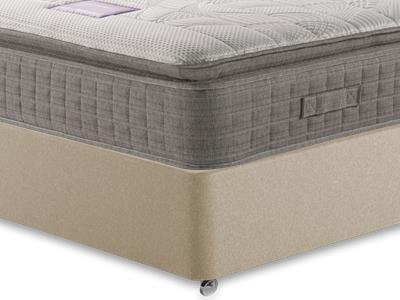 Restopaedic Restapillow Comfort 3 Single Mattress with Executive Sandstone Single 0 Drawer Divan Set