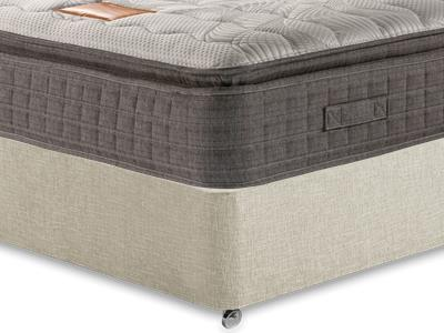 Restopaedic Restapillow Memory 3 Single Mattress with Executive Barley Single 0 Drawer Divan Set