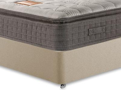 Restopaedic Restapillow Memory 3 Single Mattress with Executive Sandstone Single 0 Drawer Divan Set