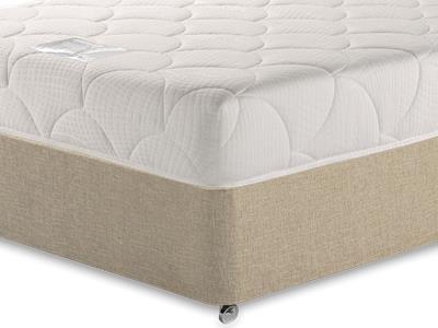 Breasley Platinum Deluxe Memory 4 Small Double Mattress with Classic Mink Small Double Slide Store Divan Set