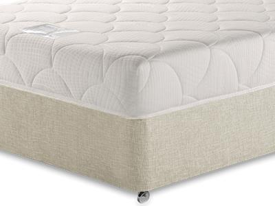 Breasley Platinum Deluxe Memory Sleep Cool Cover 3 Single Mattress with Executive Barley Single 0 Drawer Divan Set