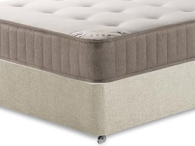 Shire Beds Shire Tuft 3 Single Mattress with Executive Barley Single 0 Drawer Divan Set