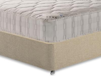 Shire Beds Shire Quilt 3 Single Mattress with Classic Mink Single Slide Store Divan Set